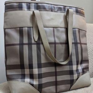 Burberry smoked check tote handbag